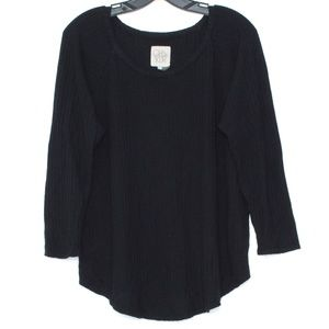 Chaser Black Long Sleeve Top Womens XL A2